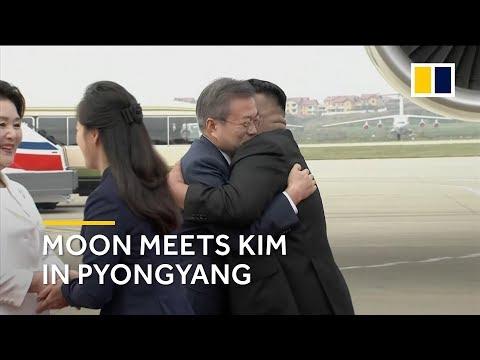 South Korean president Moon in Pyongyang for third meeting with North Korean leader Kim