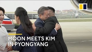 South Korean president Moon in Pyongyang for third meeting with North Korean leader Kim thumbnail