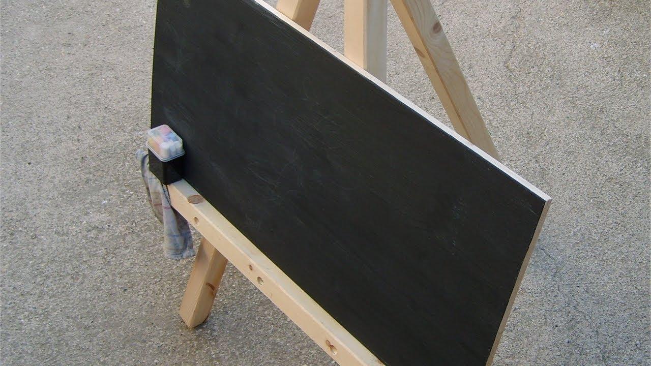 diy kleine tafel mit staffelei f r kinder schnell selbstgebaut youtube. Black Bedroom Furniture Sets. Home Design Ideas