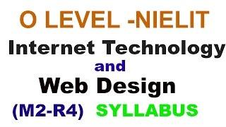 O level - Internet Technology And Web Design Syllabus