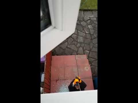 Burglar caught in the act...