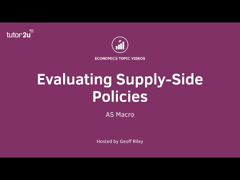 Evaluating Supply-Side Policies
