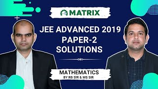 JEE Advanced 2019 Mathematics PAPER 2 Solutions