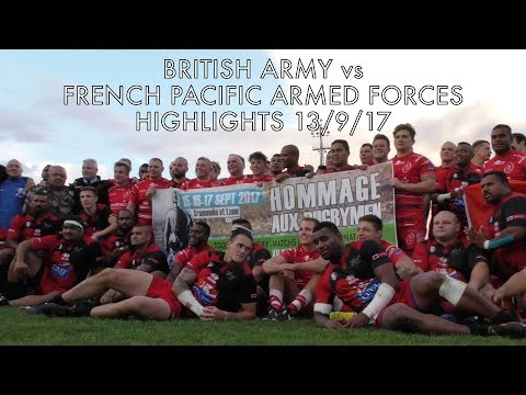 British Army vs French Pacific Armed Forces Highlights 16-9-17