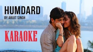 Ek Villain - Humdard Karaoke with Lyrics