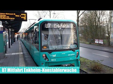 U Bahn Frankfurt am Main - U7 Mitfahrt(U5 Triebwagen)