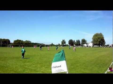 Sponsoring en doelpunt van Unitas'59 tegen Cercle Brugge (intern. F1-toernooi vv Tricht)