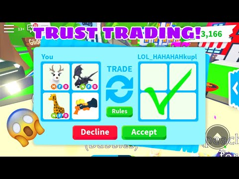 Trust trading with random people (undercover)|| roblox adopt me