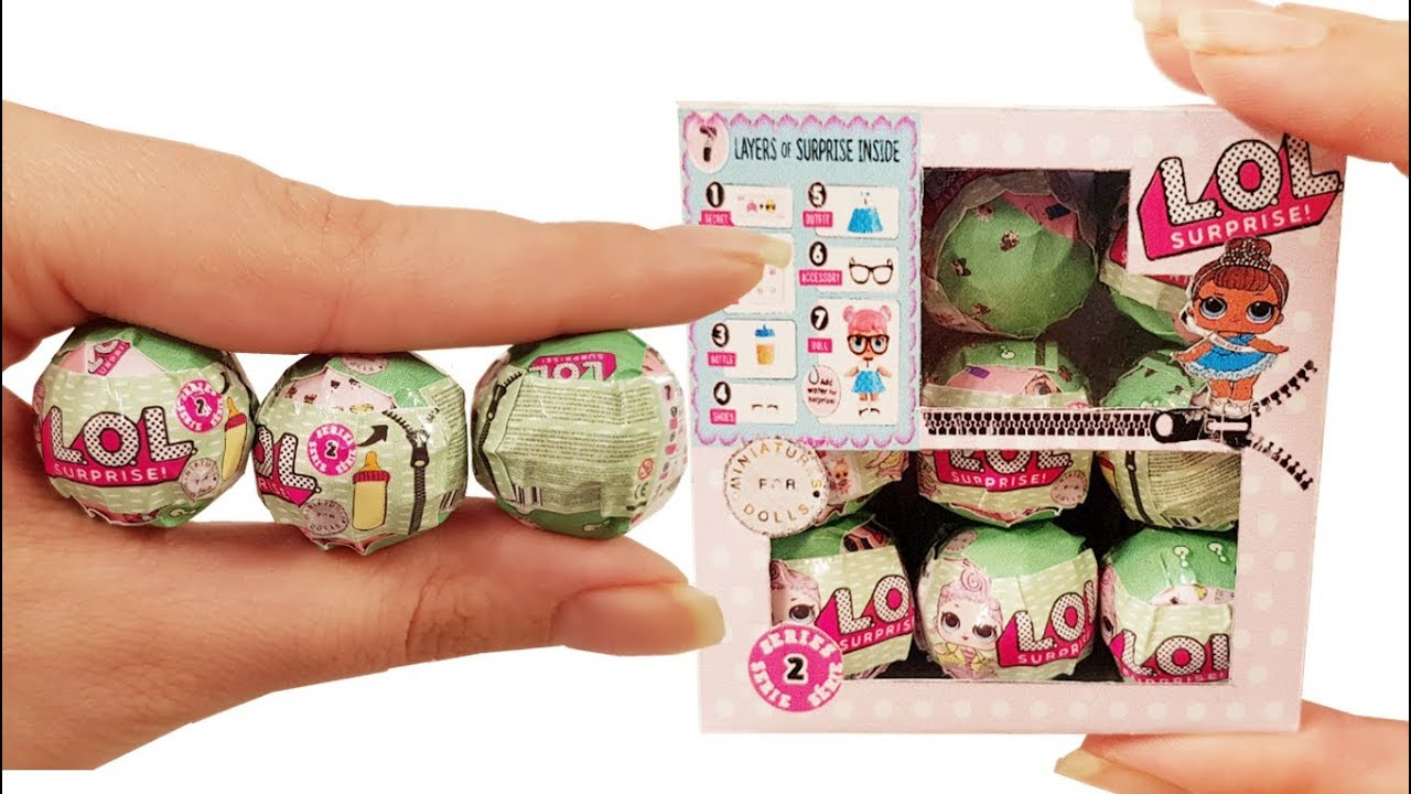 Diy Miniature Lol Surprise Doll Blind Bags Tutorial Crafts