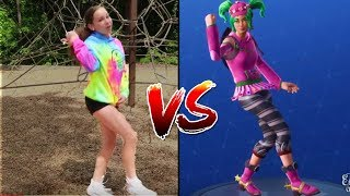 FORTNITE DANCE CHALLENGE IN REAL LIFE!! *ALL NEW DANCES* (Haschak Sisters Edition