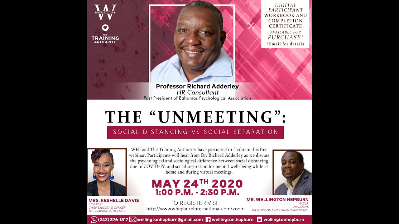 WHI C3 Series - The Unmeeting: Social Distancing vs. Social Separation (May 24 2020)