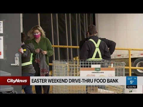 Foodbanks collect and distribute much needed food on long weekend