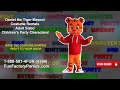 Daniel the Tiger Mascot Costume Rentals Adult Sized Children's Party Characters!