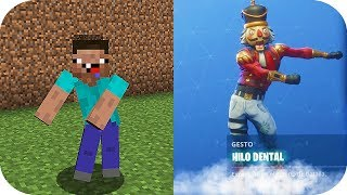 BAILES DE MINECRAFT VS BAILES DE FORTNITE MINECRAFT TROLL