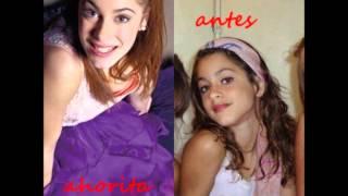 antes y ahora de algunos personajes de violetta. thumbnail