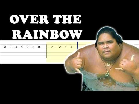 Israel Kamakawiwoole - Somewhere Over The Rainbow (Easy Guitar Tabs Tutorial)