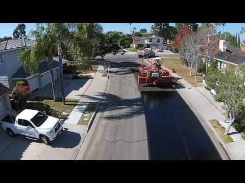 King Aurthor Rubber Asphalt Chip Seal Drone Video in Rancho Palos Verdes Ca