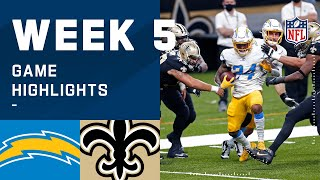 Chargers vs. Saints Week 5 Highlights | NFL 2020