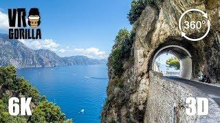 Roadtrip France, Italy & Slovenia in VR (360 3D 6K Video)