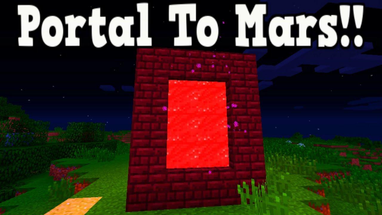 как сделать портал в майнкрафте в марс #3