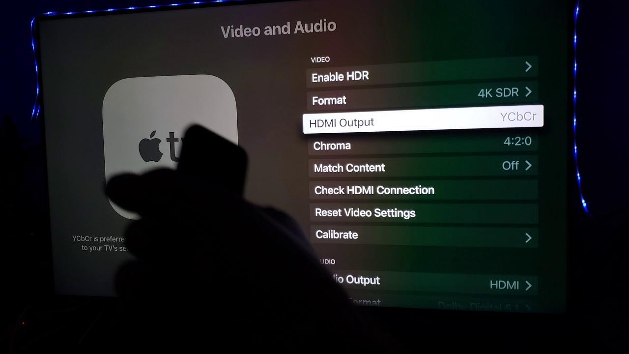 Apple TV 4K SDR & Match Content On