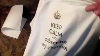 How To Print your T shirt At Home in HINDI Ghar per Apni Image ko T shirt per kese print kre