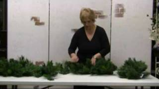 How To Fluff Christmas Greens--Garlands,Wreaths,Sprays and Swags