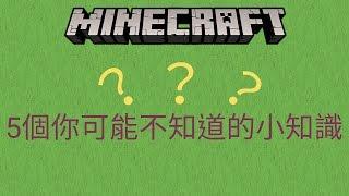 《神黑龍》實況-minecraft 5個你可能不知道的小知識