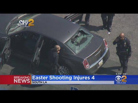 4 People Injured In South LA Car-To-Car Shooting