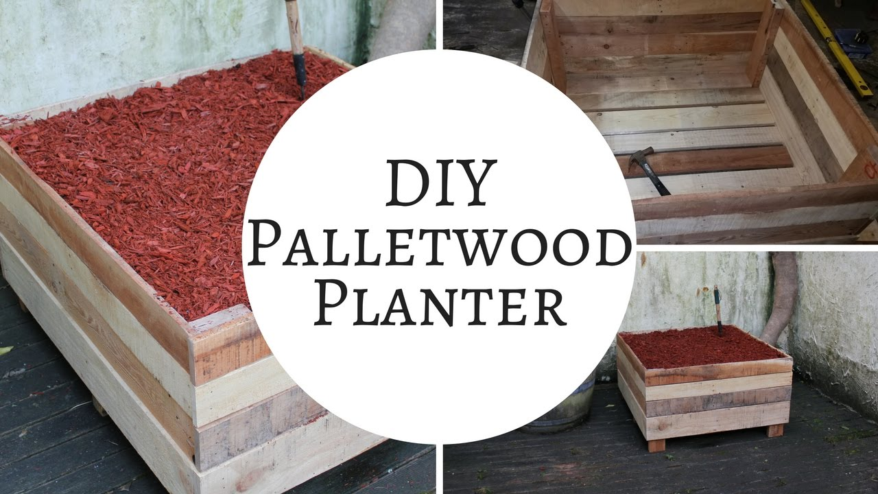 How to make a rustic pallet garden planter box | Pallet Ideas - YouTube