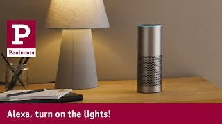 Alexa lighting control with Paulmann lights
