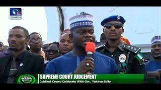 News Across Nigeria: Kogi Residents Celebrate Yahaya Bello's Victory At The Supreme Court