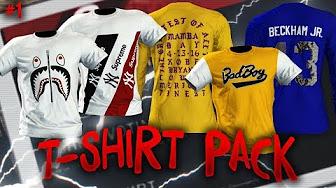 681ce940a NBA 2K18 MyPARK T-Shirt Tutorials - YouTube