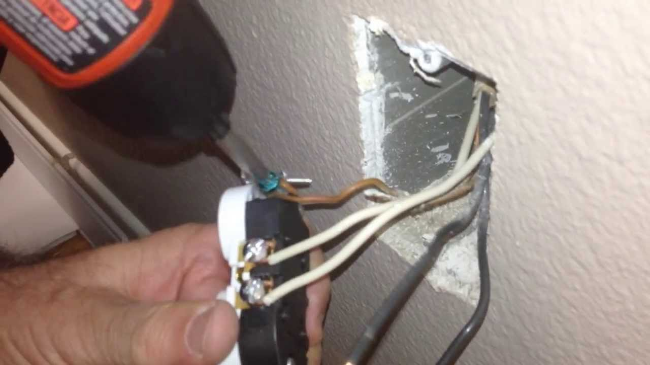 how to install a new electrical outlet socket receptacle in your rh youtube com how to wire a wall plug socket Lamp Socket Wiring Diagram
