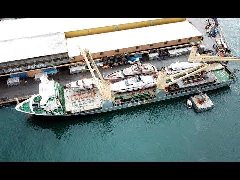 SAL: MV Frauke, loading yachts in Italy