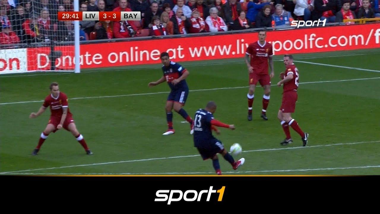 55 Tor Spektakel Beim Legendenspiel Fc Liverpool Fc Bayern