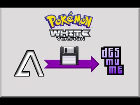 Converting No$GBA to DeSmuME save data ( sav →  dsv) for Pokemon White