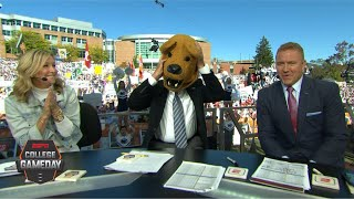 Lee Corso's headgear pick for Michigan vs. Penn State with Lara Spencer   College GameDay