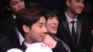 141203   sunggyu reaction to gookju and sehos performance