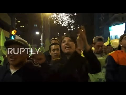 Ecuador: Moreno supporters celebrate his election win in Quito