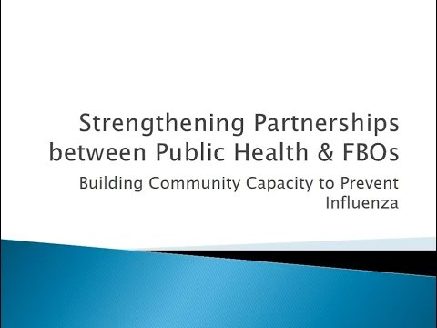 Strengthening Partnerships Between Public Health and FBOs