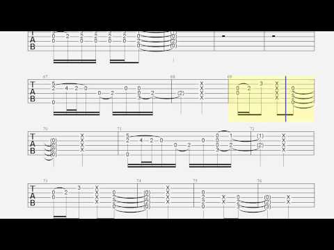 Guitar Tab - I See Fire - Slow - Chords - How to Play