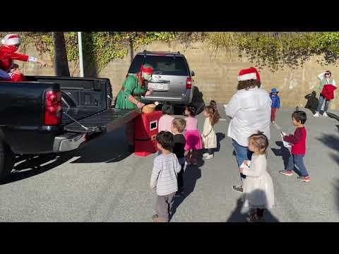 Santa Visits Serendipity School 2020