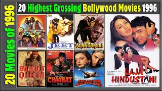 Top 20 Bollywood Movies Of 1996 | Hit or Flop | With Box Office Collection | Best Indian films 1996