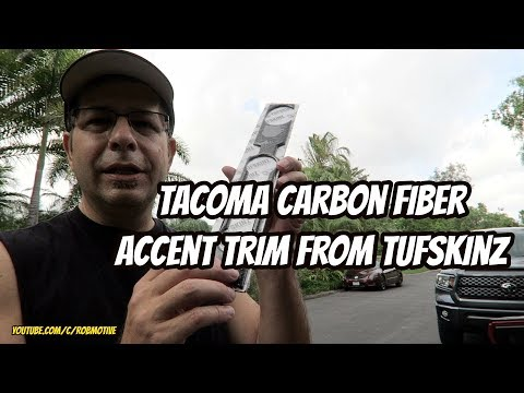 Tacoma Carbon Fiber Accent Trim From Tufskinz