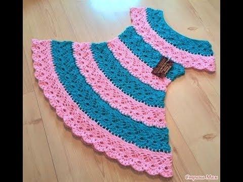 08a28410e اروع فساتين كروشية للبنات الصغار في العالم |سيدهشك| Summer crochet dresses  for children