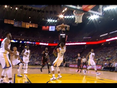 James Johnson Dunks Over Stephen Curry | 01.10.17