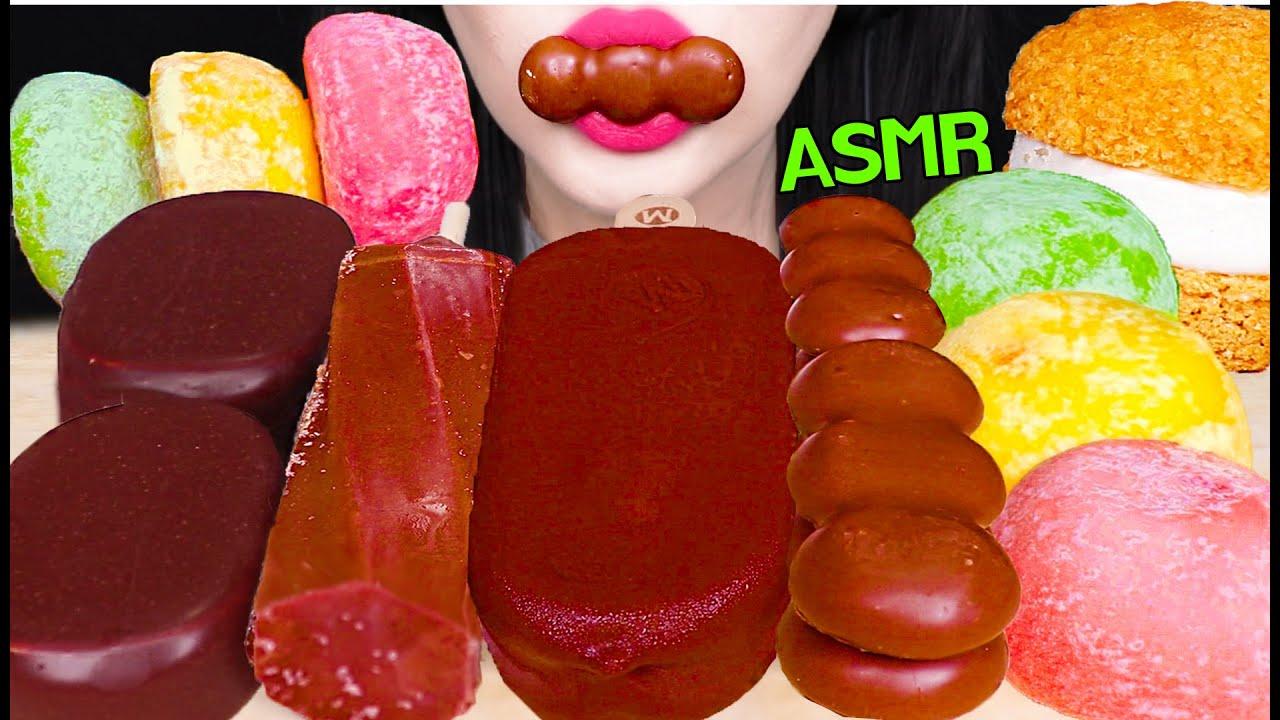 ASMR CHOCOLATE ICE CREAM, GIANT CHOU ICE CREAM, MALTESERS BISCUIT 초콜릿 아이스크림, 대왕 슈 먹방 EATING SOUNDS