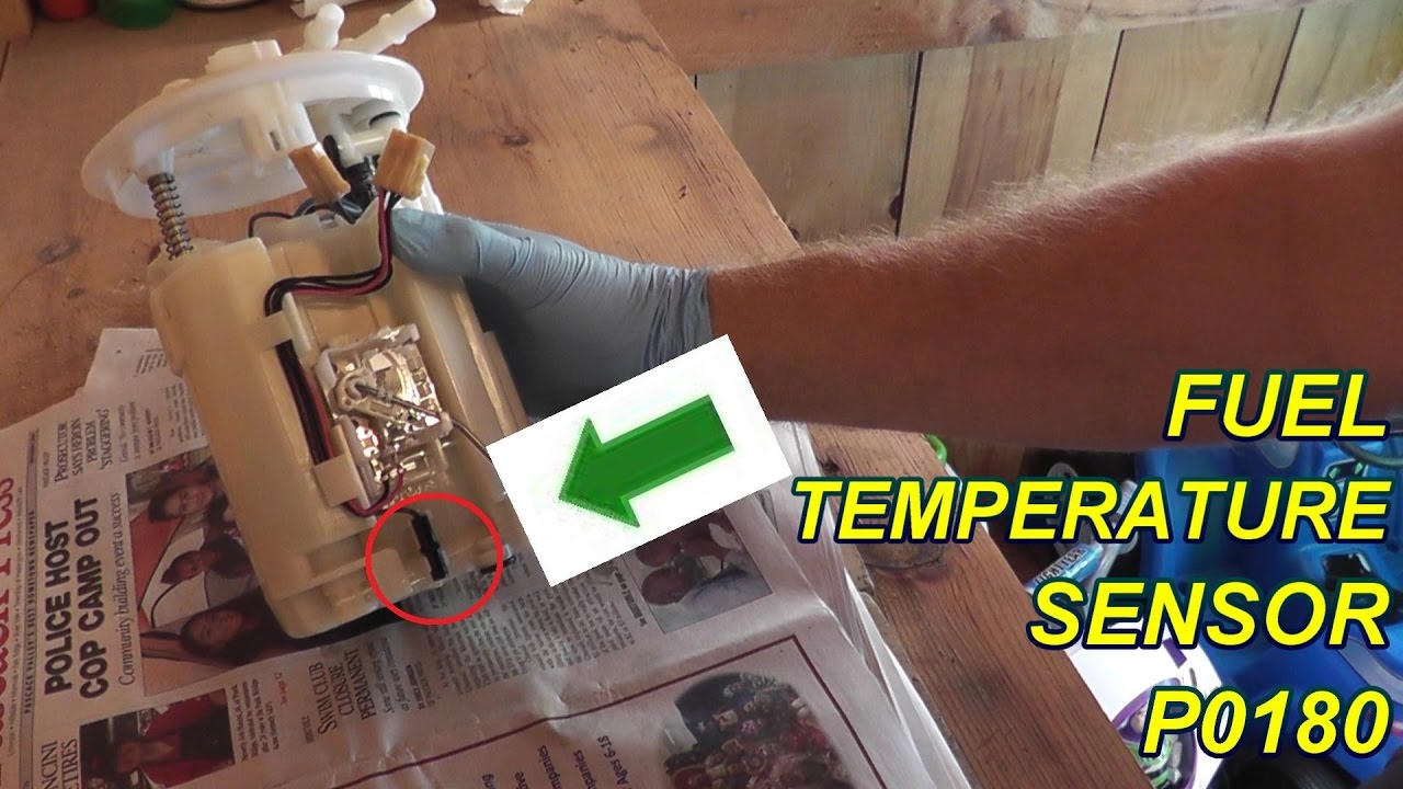 How To Test And Replace The Fuel Temperature Sensor P0180 Youtube