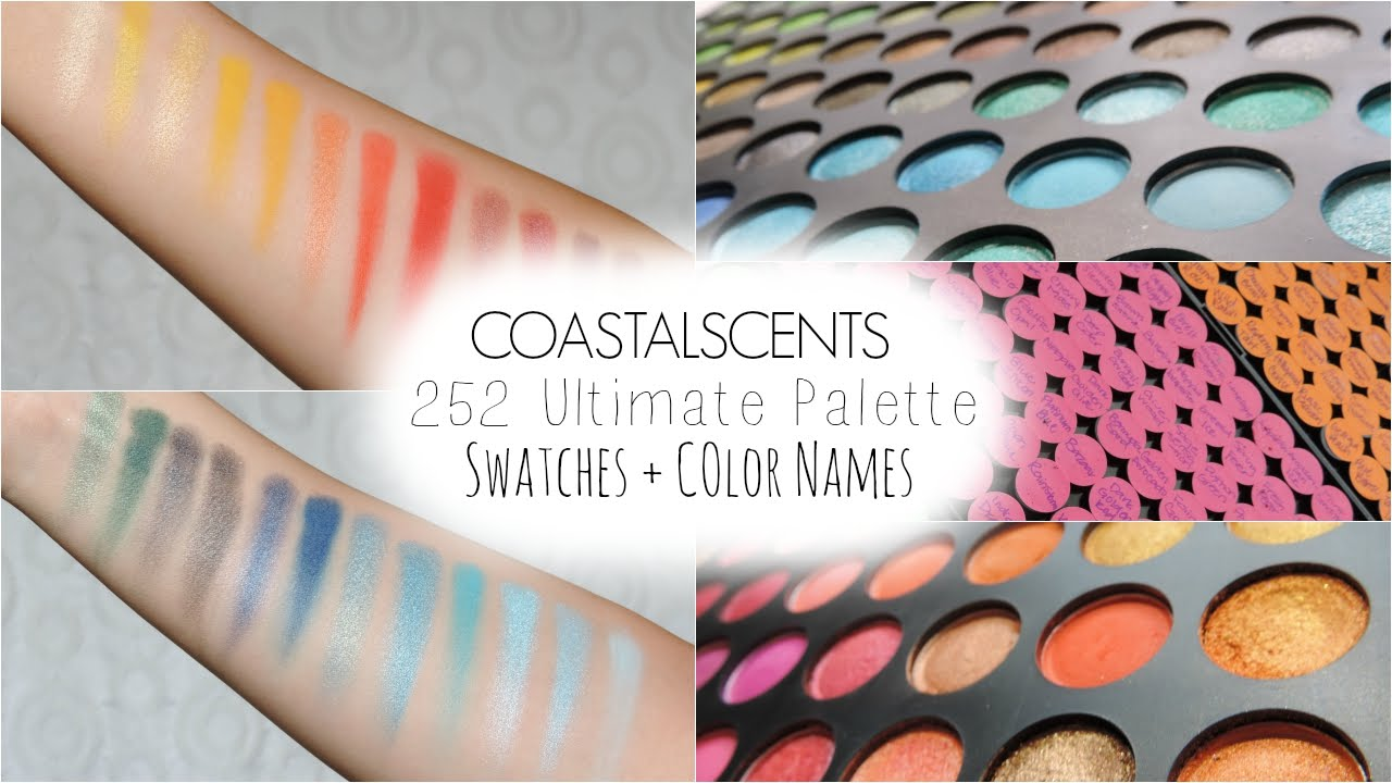 Coastal Scents 252 Palette Swatches COLOR NAMES